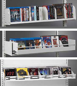 Estey media shelves