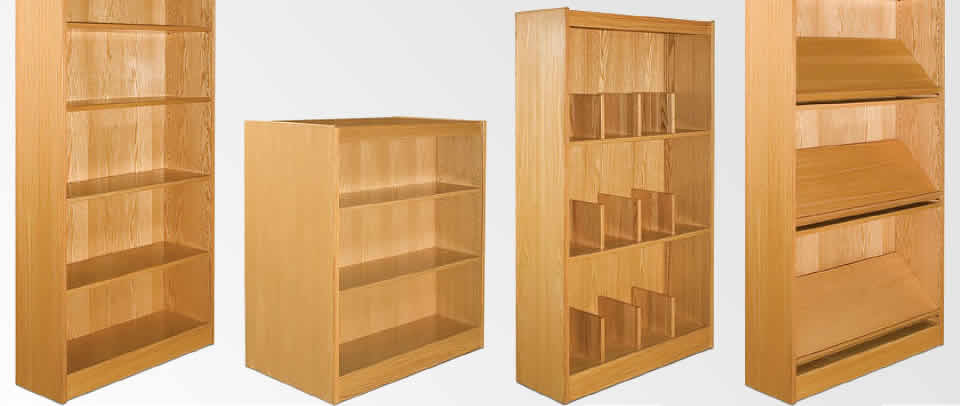 Wood Library Shelving & Furniture